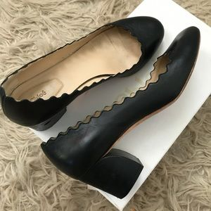 Chloe Lauren Scalloped Monster Nappa Leather Heels